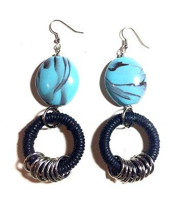 Brincos Todo Azul do Mar