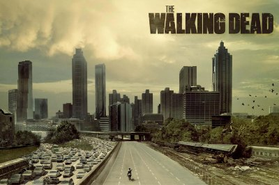 Quadro The Walking Dead - Cidade