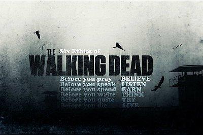 Quadro The Walking Dead - 6 Éticas