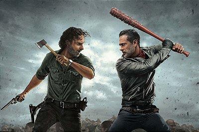 Quadro The Walking Dead - Rick e Negan