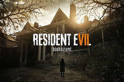 Quadro Gamer Resident Evil 7 - Mansão