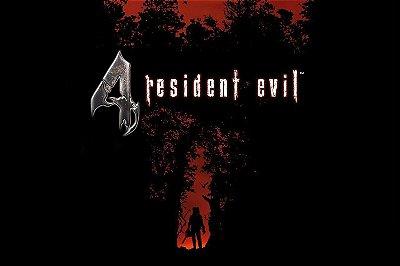 Quadro Gamer Resident Evil 4 - Escrito