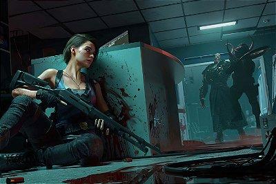 Quadro Gamer Resident Evil 3 - Nemesis e Jill