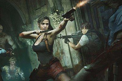 Quadro Gamer Resident Evil 2 - Leon e Claire 4