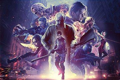 Quadro Gamer Resident Evil - Personagens 2
