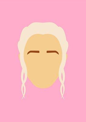 Quadro Minimalista H.E - Game of Thrones Daenerys