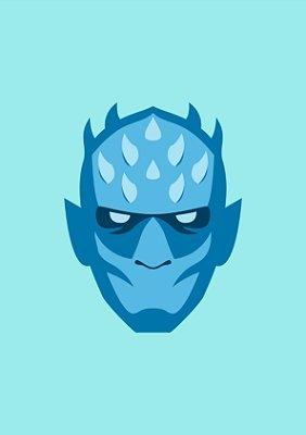 Quadro Minimalista H.E - Game of Thrones Night King