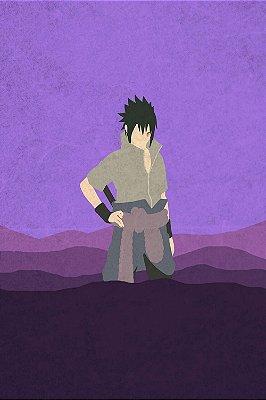 Quadro Naruto - Sasuke Minimalista
