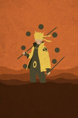 Quadro Naruto - Minimalista 2