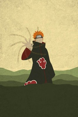 Quadro Naruto - Pain Minimalista