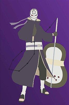 Quadro Naruto - Tobi Minimalista