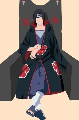 Quadro Naruto - Itachi Uchiha Minimalista