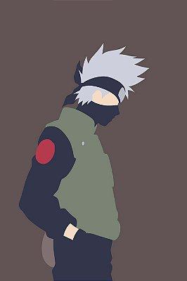 Quadro Naruto - Kakashi Minimalista