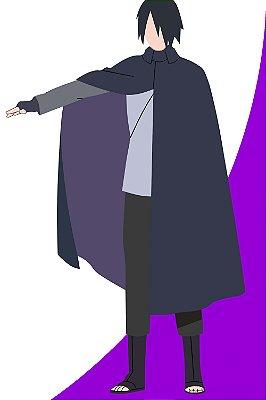 Quadro Boruto - Sasuke Minimalista