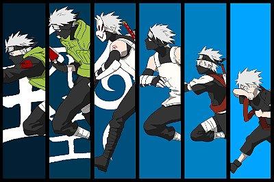 Quadro Naruto - Kakashi Evolução