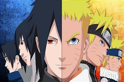 Quadro Naruto - Naruto e Sasuke Evolução
