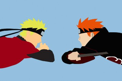 Quadro Naruto - Naruto vs Pain Minimalista
