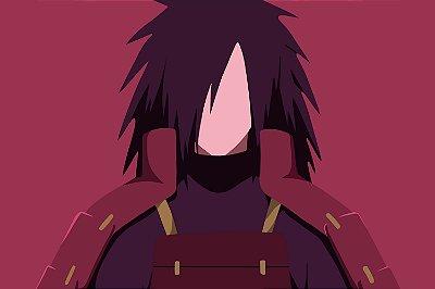 Quadro Naruto - Madara Uchiha Minimalista