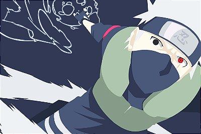 Quadro Naruto - Kakashi Minimalista 3