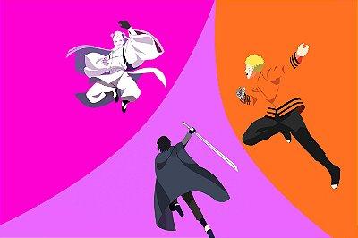 Quadro Boruto - Naruto e Sasuke vs Momoshiki