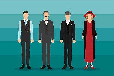 Quadro Peaky Blinders - Personagens Minimalistas