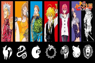 Quadro Nanatsu no Taizai - Personagens Artístico 4