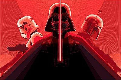 Quadro Star Wars - Dark Side Artístico 4