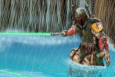 Quadro Star Wars - Boba Fett