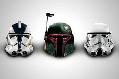 Quadro Star Wars - Capacetes