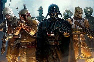 Quadro Star Wars - Vilões