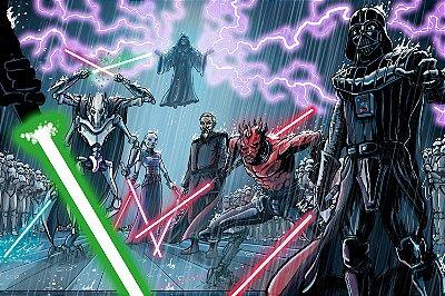 Quadro Star Wars - Vilões 2