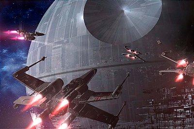 Quadro Star Wars - X-wings e Estrela da Morte