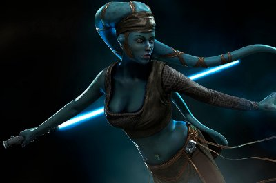 Quadro Star Wars - Jedi Aayla Secura