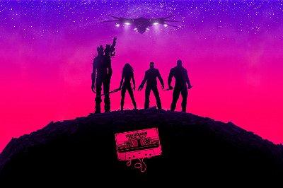Quadro Guardiões da Galáxia - Minimalista