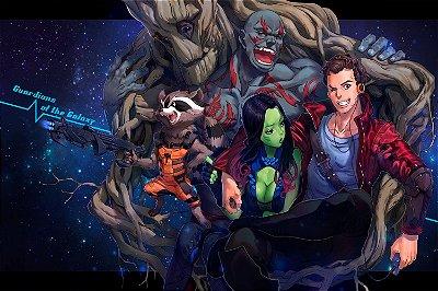 Quadro Guardiões da Galáxia - Artístico 2