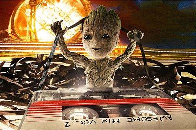 Quadro Guardiões da Galáxia - Baby Groot