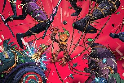 Quadro Guardiões da Galáxia - Baby Groot 2