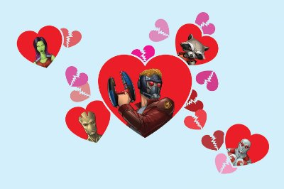 Quadro Guardiões da Galáxia - Love