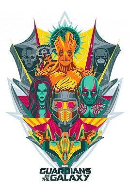 Quadro Guardiões da Galáxia - Minimalista 3