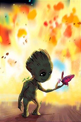 Quadro Guardiões da Galáxia - Baby Groot 3