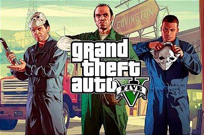 Quadro Gamer GTA V - Franklin, Michael e Trevor 3