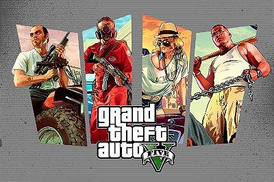 Quadro Gamer GTA V - Pôster 2