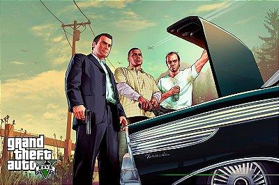 Quadro Gamer GTA V - Franklin, Michael e Trevor 5