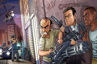 Quadro Gamer GTA V - Desenho