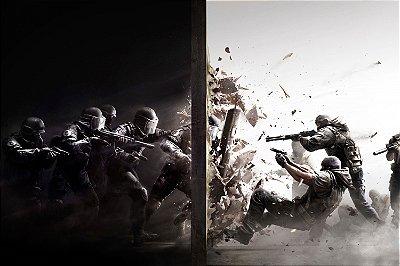 Quadro Gamer Rainbow Six - Ataque e Defesa