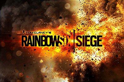 Quadro Gamer Rainbow Six - Escrito