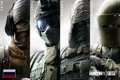 Quadro Gamer Rainbow Six - Operadores Clássicos