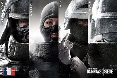 Quadro Gamer Rainbow Six - Operadores Clássicos 2