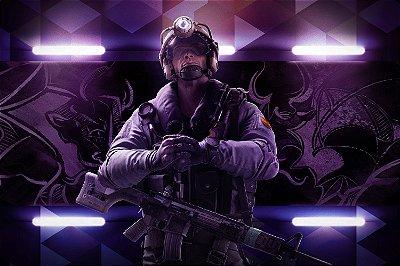 Quadro Gamer Rainbow Six - Jackal