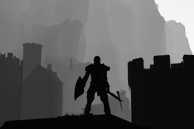 Quadro Gamer Dark Souls - Minimalista
